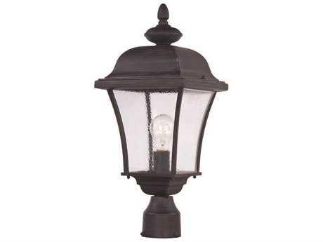 Maxim Lighting Senator Rust Patina Outdoor Post Light