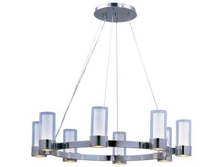 Maxim Lighting Silo Polished Chrome Eight-Light 32 Wide Chandelier MX23078CLFTPC