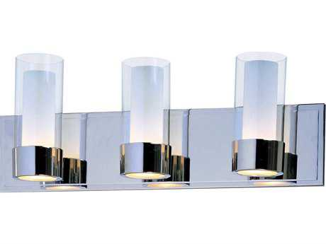 Maxim Lighting Silo Polished Chrome Three-Light Vanity Light MX23073CLFTPC