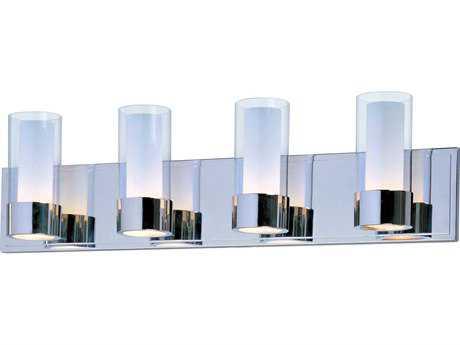 Maxim Lighting Silo Polished Chrome Four-Light Vanity Light MX23074CLFTPC