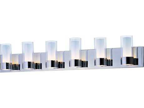 Maxim Lighting Silo Polished Chrome Six-Light Vanity Light MX23076CLFTPC