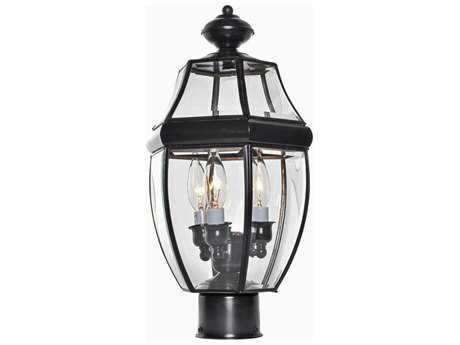 Maxim Lighting South Park Burnished & Clear Glass Three-Light 9.5'' Wide Outdoor Post Light MX6097CLBU