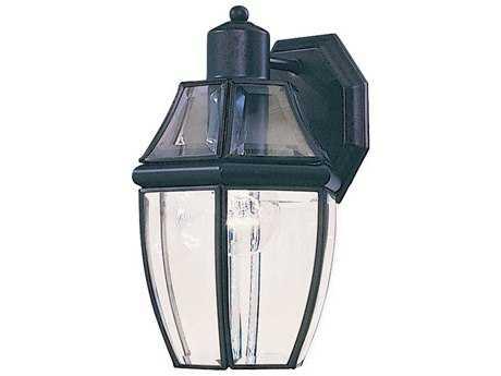Maxim Lighting South Park Black & Clear Glass 7'' Wide Outdoor Wall Light MX4010CLBK