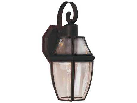 Maxim Lighting South Park Burnished & Clear Glass 7'' Wide Outdoor Wall Light MX4011CLBU