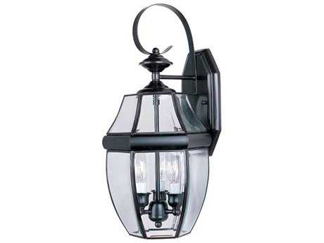 Maxim Lighting South Park Burnished & Clear Glass Three-Light 9.5'' Wide Outdoor Wall Light MX4191CLBU