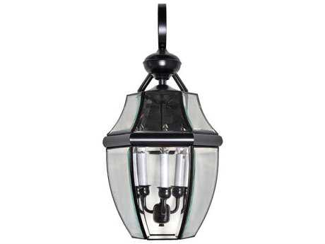 Maxim Lighting South Park Burnished & Clear Glass Three-Light 12'' Wide Outdoor Wall Light MX4192CLBU