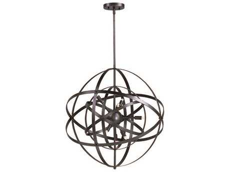 Maxim Lighting Sputnik Bronze Rupert Six-Light 19'' Wide Pendant Light MX25130BR