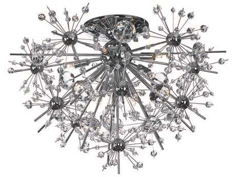 Maxim Lighting Starfire Polished Chrome Eight-Light 22'' Wide Semi-Flush Mount Light MX39740BCPC