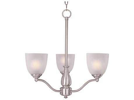 Maxim Lighting Stefan Satin Nickel Three-Light 21 Wide Chandelier