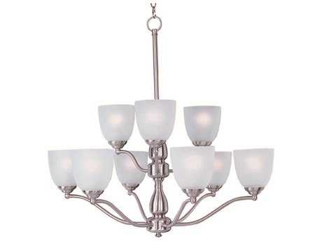 Maxim Lighting Stefan Satin Nickel Nine-Light 30 Wide Chandelier