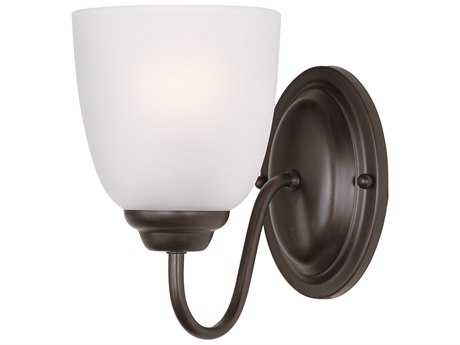 Maxim Lighting Stefan Oil Rubbed Bronze & Frosted Glass Vanity Light