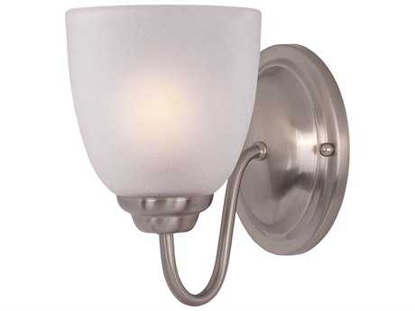 Maxim Lighting Stefan Satin Nickel & Frosted Glass Vanity Light