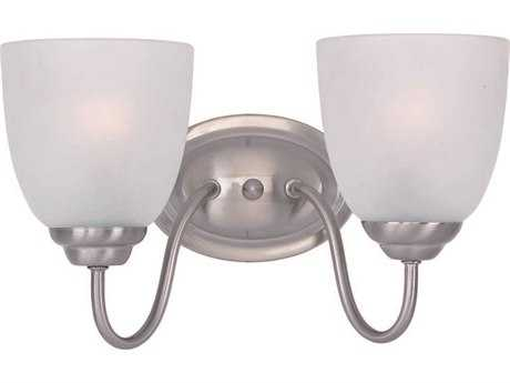 Maxim Lighting Stefan Satin Nickel Two-Light Vanity Light