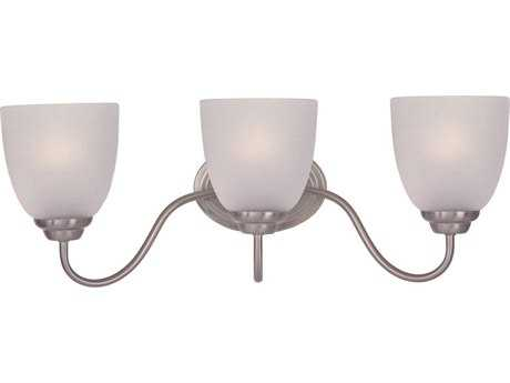 Maxim Lighting Stefan Satin Nickel Three-Light Vanity Light