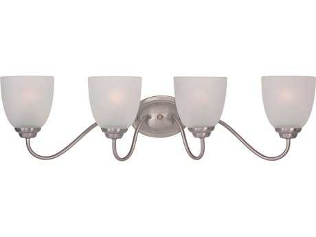 Maxim Lighting Stefan Satin Nickel Four-Light Vanity Light