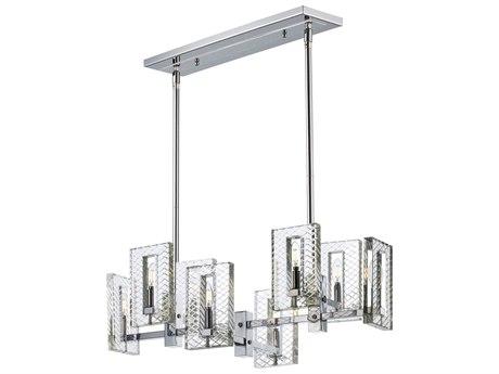 Maxim Lighting Suave Polished Nickel Eight-Light 35'' Wide  Island Light MX38015BCPN