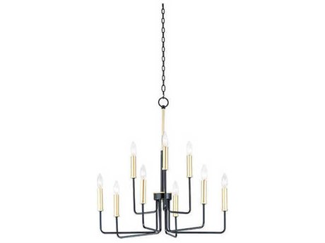Maxim Lighting Sullivan Black / Gold 25'' Wide Medium Chandelier