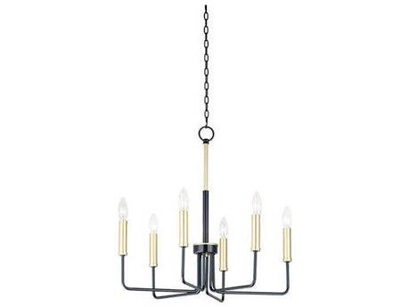 Maxim Lighting Sullivan Black / Gold 23'' Wide Mini Chandelier