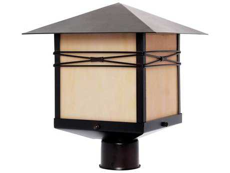 Maxim Lighting Taliesin Burnished & Iridescent Glass 11'' Wide Outdoor Post Light MX8044IRBU
