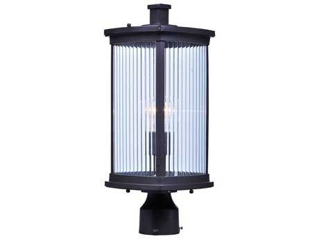 Maxim Lighting Terrace Bronze with Clear Glass Outdoor Post Light