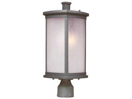 Maxim Lighting Terrace Platinum & Frosted Seedy Glass 8'' Wide Incandescent Outdoor Post Light