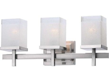 Maxim Lighting Tetra Satin Nickel Three-Light 22'' Wide  Vanity Light