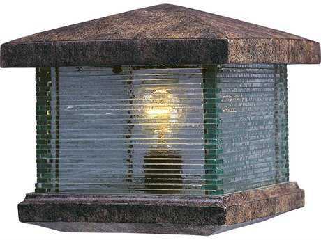 Maxim Lighting Triumph VX Earth Tone & Clear Glass 9.5'' Wide Incandescent Outdoor Deck Light MX48736CLET