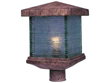 Maxim Lighting Triumph VX Earth Tone & Clear Glass 10'' Wide Incandescent Outdoor Post Light MX48735CLET