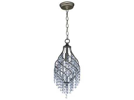 Maxim Lighting Twirl Golden Silver with Beveled Crystal Glass 8'' Wide Mini Pendant Light