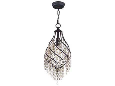 Maxim Lighting Twirl Oil Rubbed Bronze with Cognac Glass 8'' Wide Mini Pendant Light MX22003CGOI