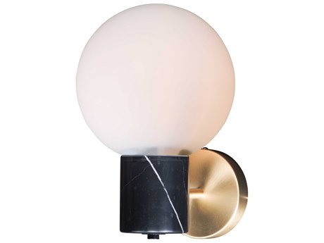 Maxim Lighting Vesper Satin Brass / Black  8'' Wide  Wall Sconce