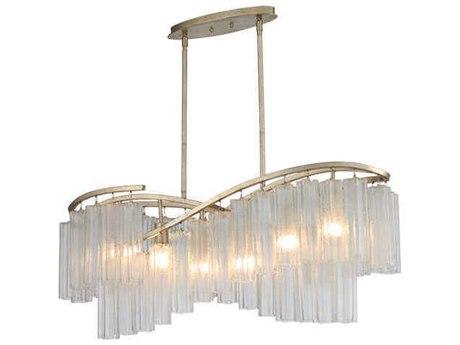 Maxim Lighting Victoria Golden Silver 41'' Wide Glass Island Light MX39579WFLGS
