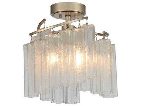 Maxim Lighting Victoria Golden Silver 17'' Wide Glass Semi-Flush Mount MX39570WFLGS