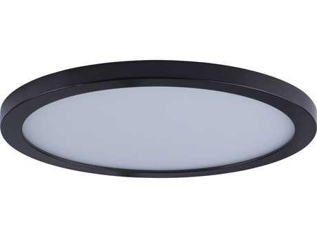 Maxim Lighting Wafer Bronze with White Glass 10'' Wide LED Flush Mount Light MX57714WTBZ