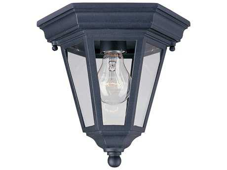 Maxim Lighting Westlake Black & Clear Glass 8'' Wide Incandescent Outdoor Ceiling Light MX1027BK