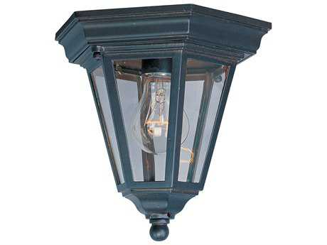 Maxim Lighting Westlake Empire Bronze & Clear Glass 8'' Wide Incandescent Outdoor Ceiling Light MX1027EB