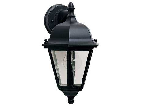 Maxim Lighting Westlake Black & Clear Glass 8'' Wide Incandescent Outdoor Wall Light MX1000BK