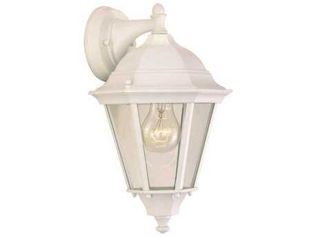 Maxim Lighting Westlake White & Clear Glass 8'' Wide Incandescent Outdoor Wall Light MX1000WT