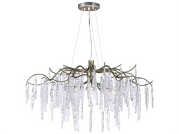 Willow Silver Gold Eight-Light 35'' Wide  Chandelier