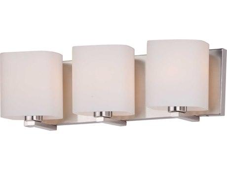 Maxim Lighting Wrap Satin Nickel Three-Light 19'' Wide  Vanity Light