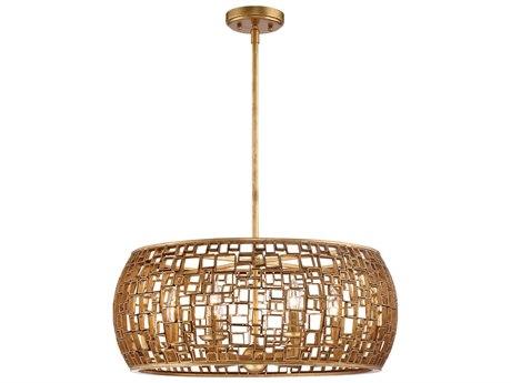 Metropolitan Lighting Abbondanza Halcyon Gold Six-Light 24'' Wide Chandelier