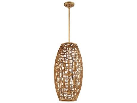 Metropolitan Lighting Abbondanza Halcyon Gold Six-Light 14'' Wide Chandelier METN7138597