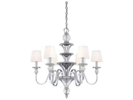Metropolitan Lighting Aise Polished Nickel Six-Lights 31'' Wide Chandelier METN6610613