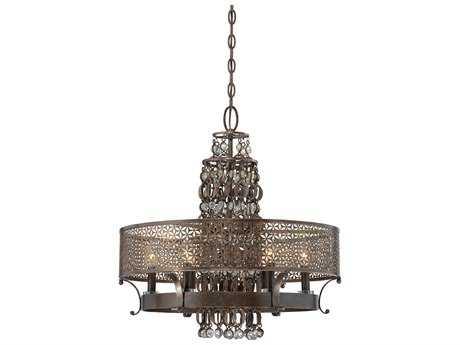Metropolitan Lighting Ajourer French Bronze Six-Lights 23.5'' Wide Chandelier METN6725258