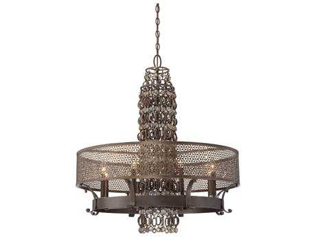Metropolitan Lighting Ajourer French Bronze Eight-Lights 32'' Wide Chandelier METN6726258