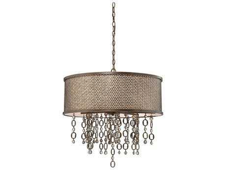 Metropolitan Lighting Ajourer French Bronze Eight-Lights 28'' Wide Pendant Light METN6724258