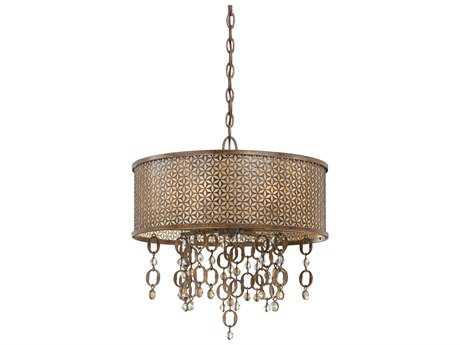 Metropolitan Lighting Ajourer French Bronze Six-Lights 20'' Wide Pendant Light METN6728258