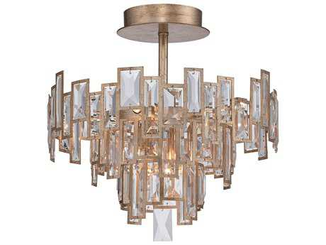 Metropolitan Lighting Bel Mondo Luxor Gold Five-Lights 18.5'' Wide Semi-Flush Mount Light METN6672274