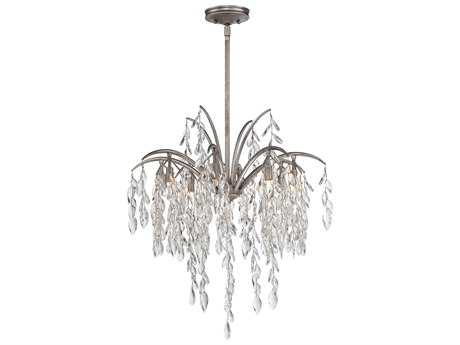Metropolitan Lighting Bella Flora Silver Mist Eight-Lights 25'' Wide Pendant Light METN6868278