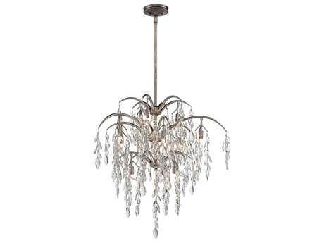 Metropolitan Lighting Bella Flora Silver Mist 12-Lights 29'' Wide Pendant Light METN6862278